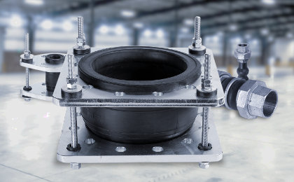 HVAC Rubber bellows Flange Drilling & Restraints